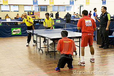 Men s Table Tennis for Disabled Persons Editorial Photography
