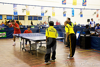 Men s Table Tennis for Disabled Persons Editorial Photo