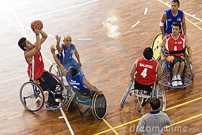 Men s Wheelchair Basketball Action Editorial Photo