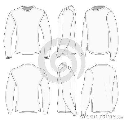 Long Sleeve White T Shirt Mens