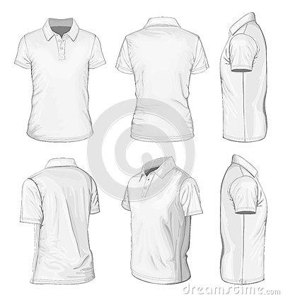 Free Men S White Short Sleeve Polo-shirt Royalty Free Stock Photography - 31404597
