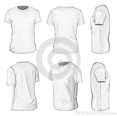 Free Men S White Short Sleeve T-shirt Design Templates Royalty Free Stock Photo - 31148795
