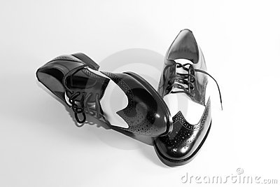 Men s Wingtip Black and White Shoes