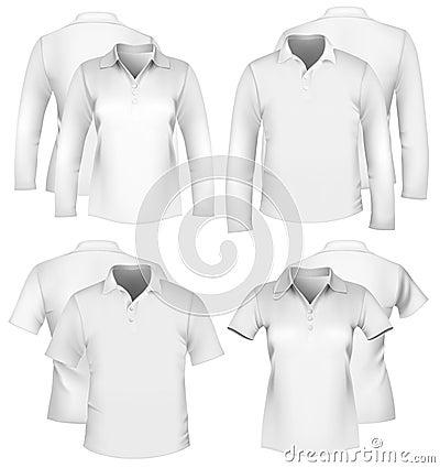 Men s and women s shirt design templates.