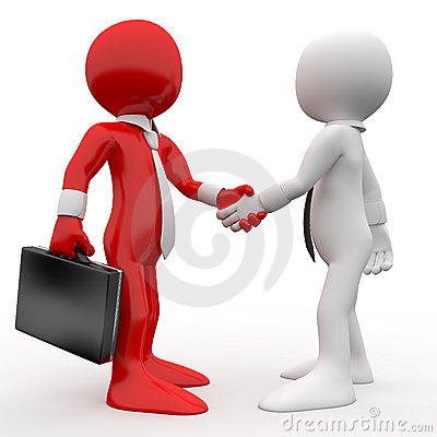 Men shaking hands as a sign of friendship and agre