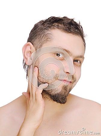 Men before shaving
