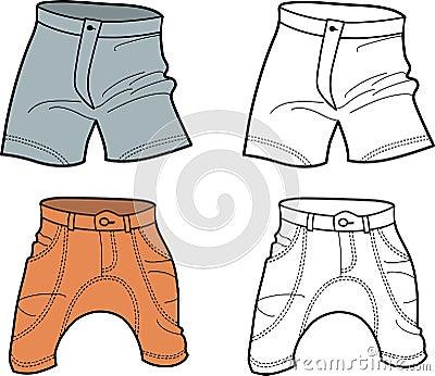 Men shorts (front view)