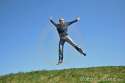 Men With Skipping Royalty Free Stock Image - Image: 9663286