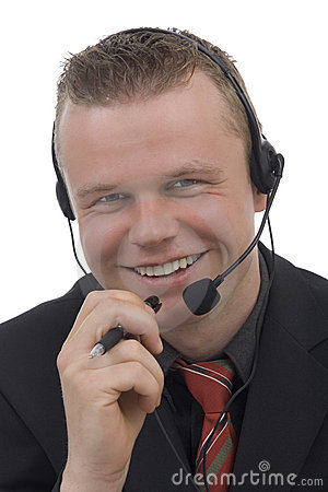Free Men Telephonist Royalty Free Stock Photo - 5299985