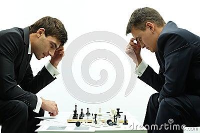Men thinking