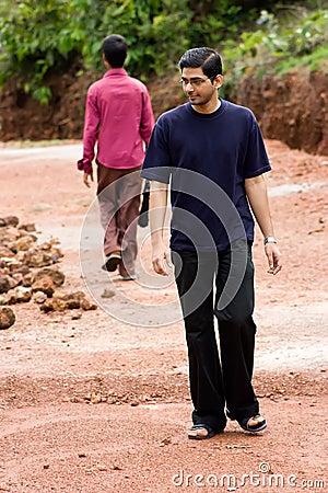 Free Men Walking Opposite Direction Stock Images - 10456974