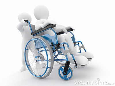 Men on wheelchair