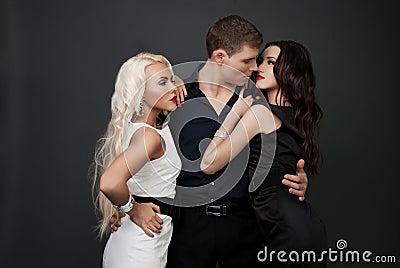 Men and women love. Hot love story.