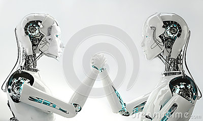 Men and women robot