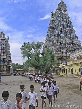 Menakshi Temple Madurai Editorial Photography