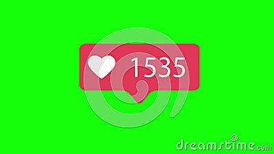 Menchie Jak ikona Na Zielonym Chroma klucza tle Jak liczenie dla Ogólnospołecznych środków 1-5000 podobieństw 4K wideo zbiory wideo