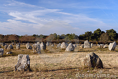 Menhir alignment in carnac