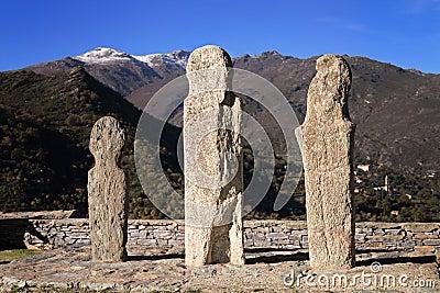 Menhirs at Pieve, Corsica