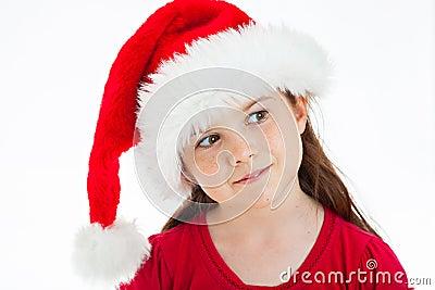 Menina bonito do Natal