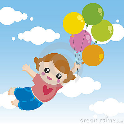 Menina com balões