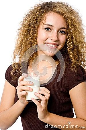 Menina com leite