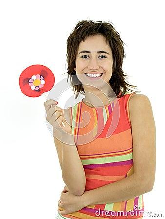 Menina com lollipop