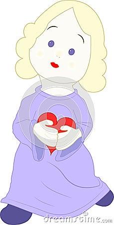 Menina com um coração