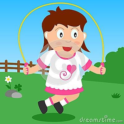 Menina de salto no parque