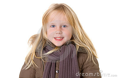 Menina de sorriso com sorriso toothy