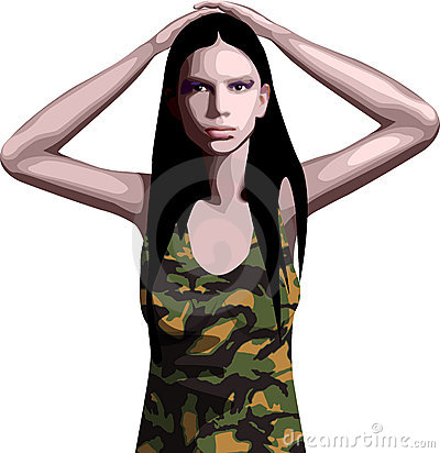 Menina do exército