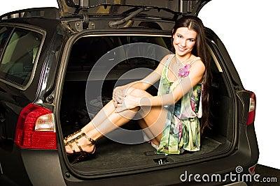 Menina e carro