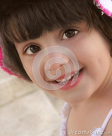 Menina feliz