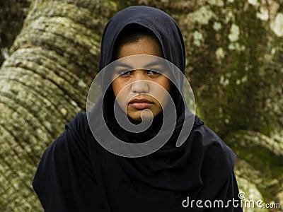 Menina indonésia do moslim