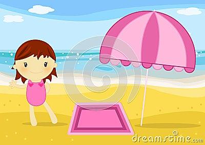 Menina na praia