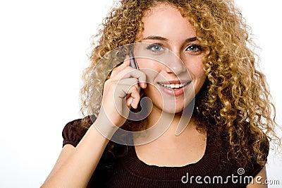 Menina no telefone