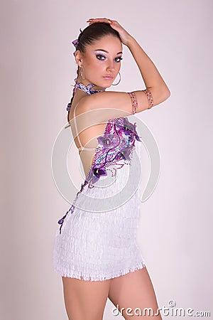 Menina profissional do dançarino