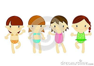 Meninas da forma da praia