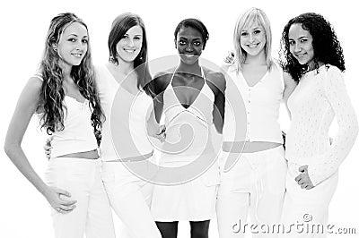Meninas no branco