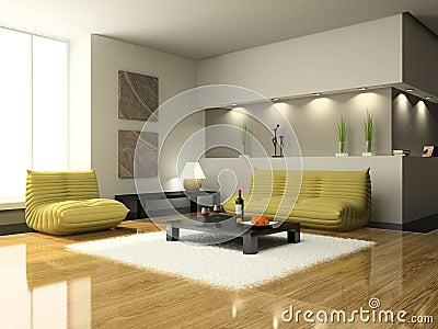 Mening over de moderne woonkamer stock foto 39 s beeld 5040563 for Modern woonkamerbeeld