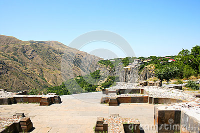 Mening van tempel Garni