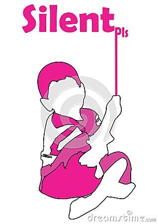 Menino cor-de-rosa
