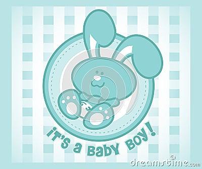 Menino do coelho do bebê
