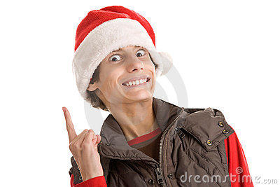 Menino engraçado do Natal