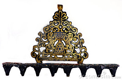 Menorah for the Jewish festival