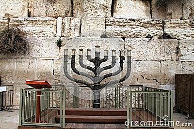 Menorah. Jewish hanukkah candle holder