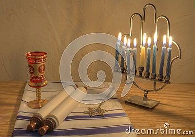 Menorah and Judaic Objects