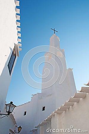 Free Menorca, Balearic Islands, Spain, Binibeca Vell, White, Architecture, Fishing Village, Skyline, Bell Tower, Church, Cross Stock Photos - 70568063