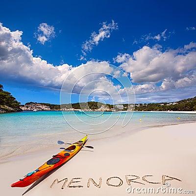 Free Menorca Cala Galdana Beach In Ciutadella At Balearic Royalty Free Stock Photos - 35147448