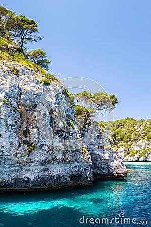 Menorca rocky coast scenery