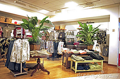 Editorial Image: Mens clothing store